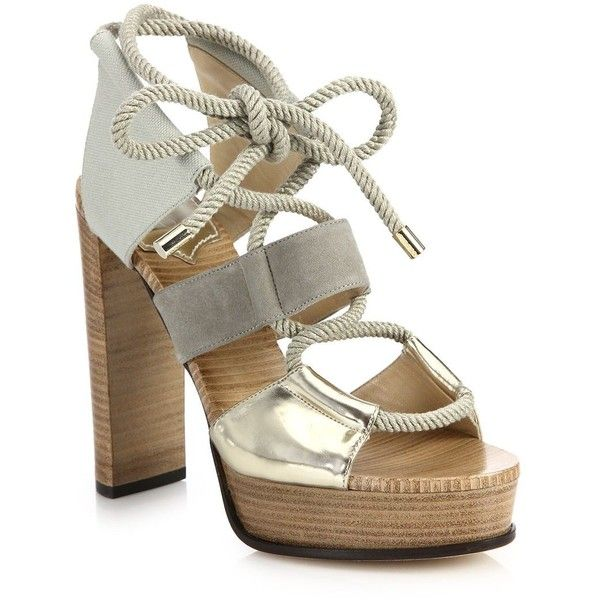 cheap sale brand new unisex Jimmy Choo Lace-Up Platform Sandals clearance good selling zIuGVR1