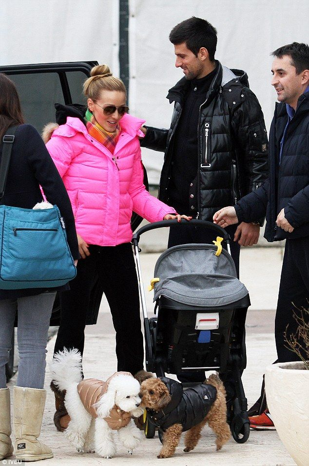 Novak Djokovic and wife Jelena Ristic step out with their baby Stefan