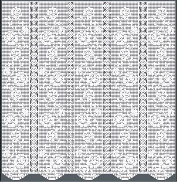 Thread Crochet Curtain Pattern