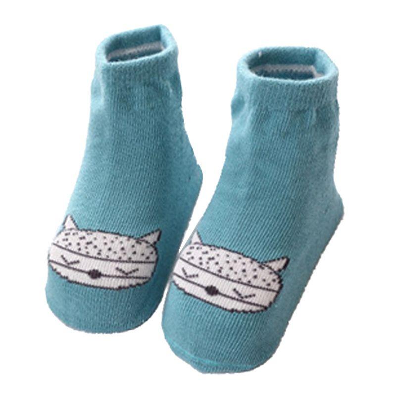 Baby Boy Girl Socks Cute Anti Slip Cotton Socks Newborn Infant Toddler Socks