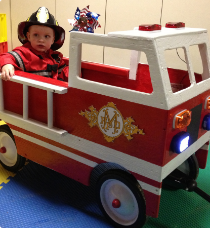 halloween 2016 radio flyer firetruck - Kids Halloween Radio
