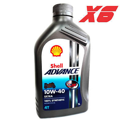 Details About Motorcycle Engine Oil Shell Advance 10w40 4t 100