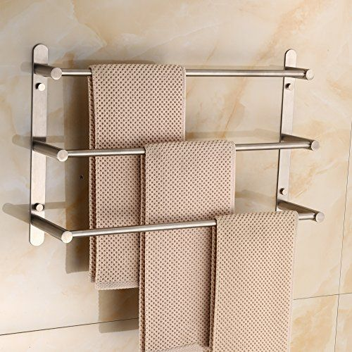Ruddock 3 Tiers Brushed Nickel Towel Racks Right Angle 30 Https