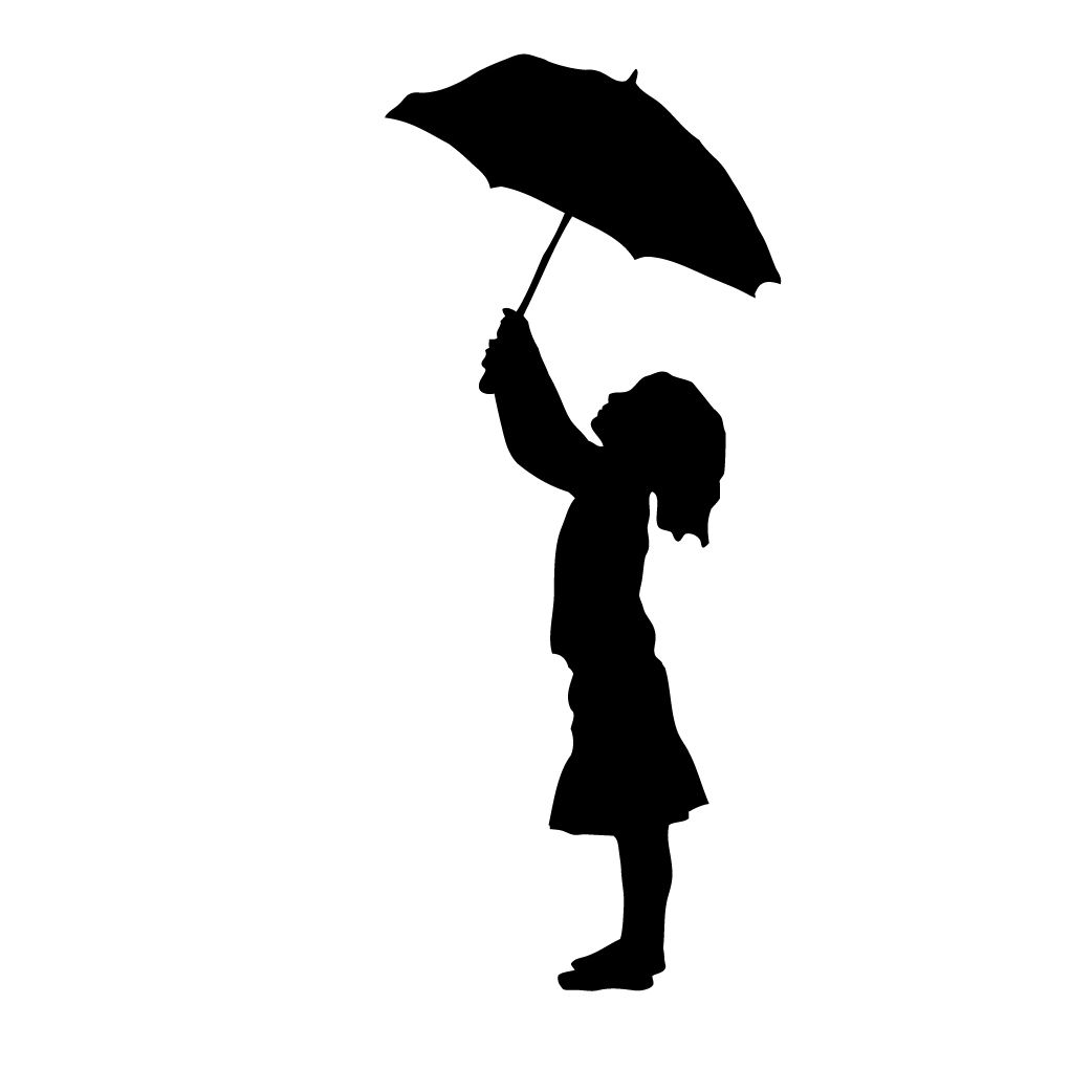 fd7553ad09c5a free clipart and silhouette of girl with umbrella #4 | science ...
