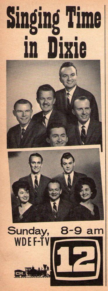 1964 WDEF tv ad ~ Lee Roy Abernathy/Singing Time in Dixie