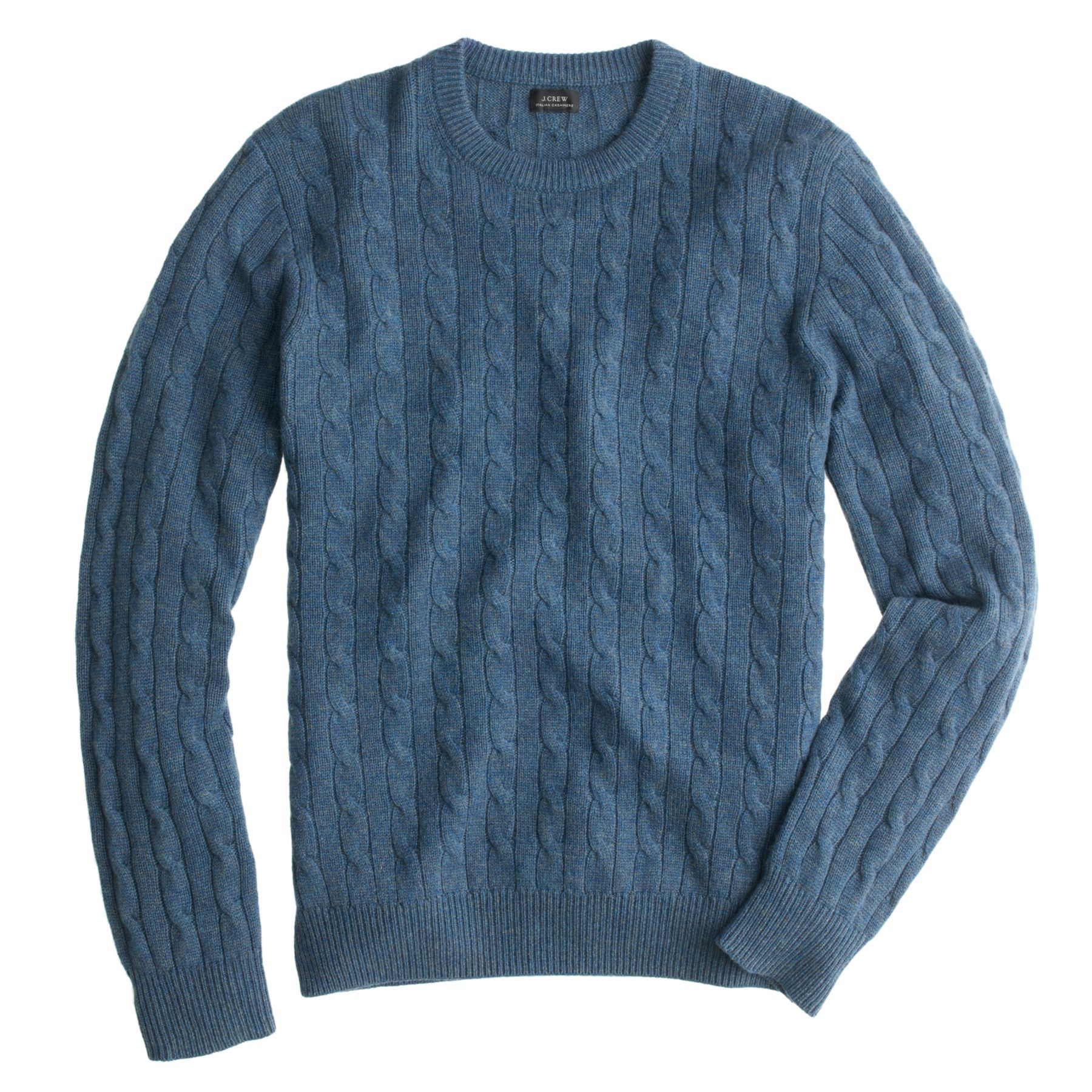 Italian cashmere cable sweater | Knitwear men, Mens cashmere