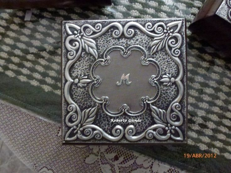 Joyero Repujado Con Aluminio De Melissa Repujado Estano Arte Lamina Artesanias Metalicas