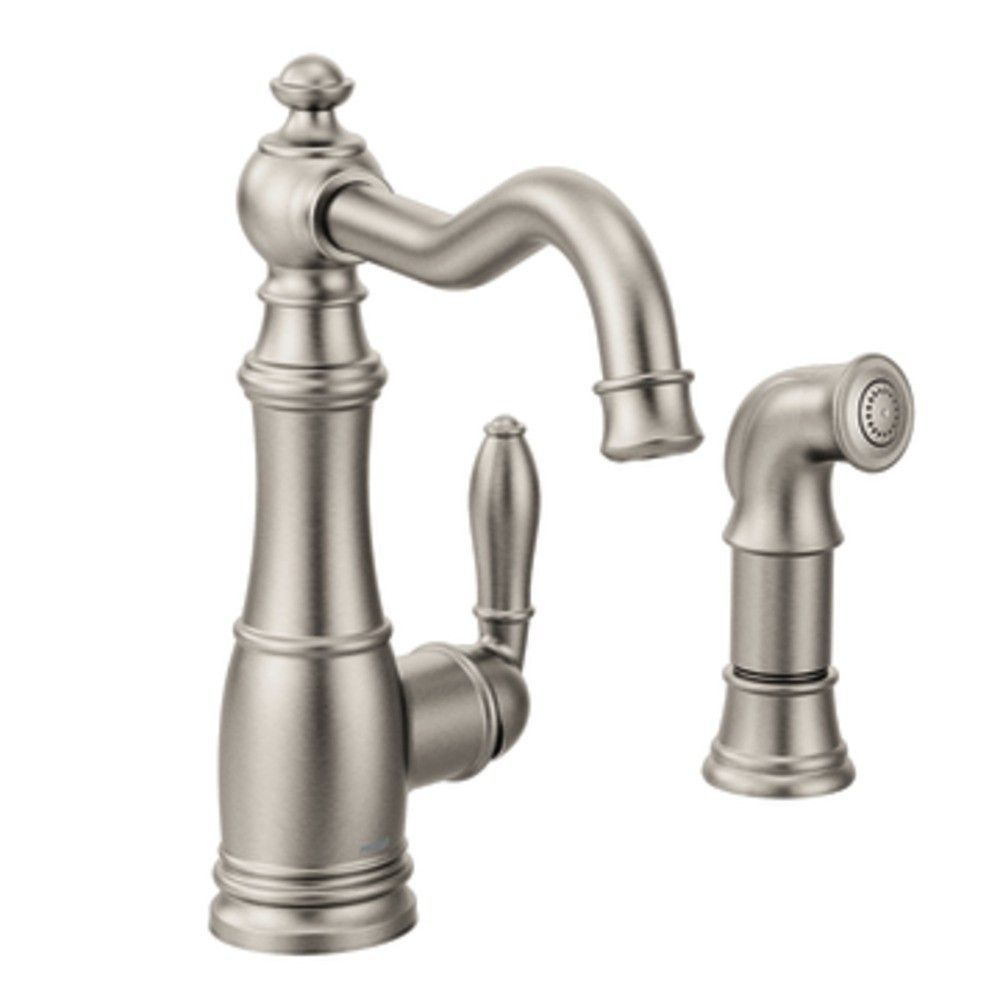 Weymouth Single Handle Kitchen Faucet with Side Spray | Weymouth ...