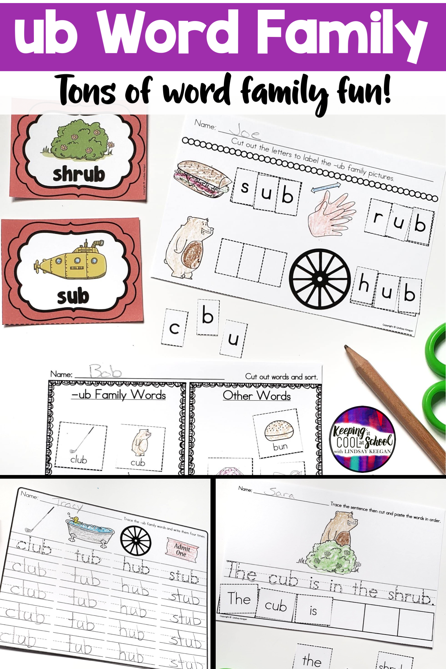 Ub Word Family Worksheets
