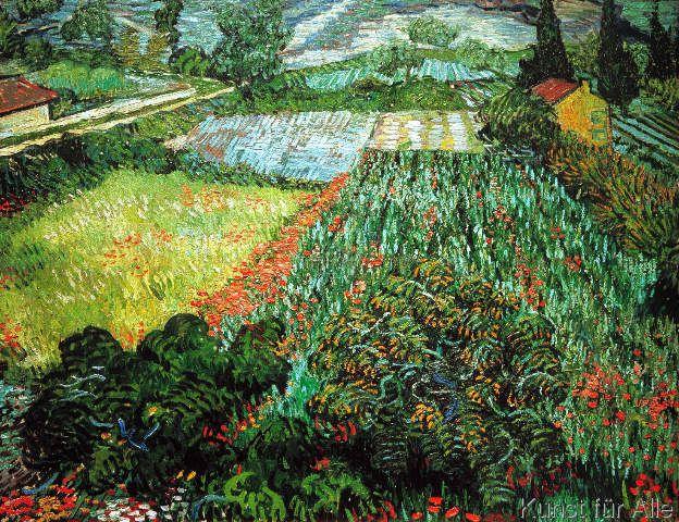 Van Gogh Feld Mit Mohnblumen Kunstdruck Leinwandbild Gerahmtes Bild Van Gogh Gemalde Mohnfelder Vincent Van Gogh