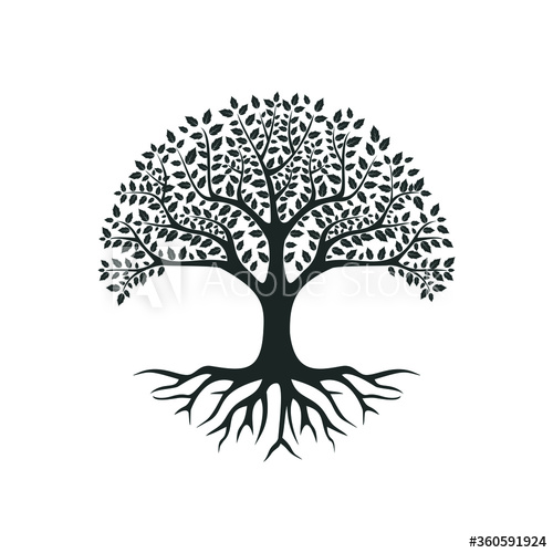 Vector Black Tree Of Live Icon On White Background Buy This Stock Vector And Explore Similar Vectors At Adobe Stock In 2020 Black Tree Tree Logo Design Tree Logos