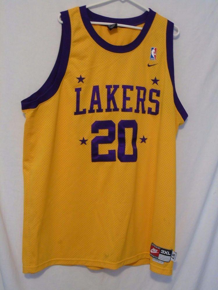 VTG GARY PAYTON JERSEY 1957 3XL XXXL Los Angeles Lakers Nike Swingman sewn # Nike #