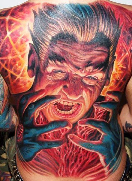 Face Tattoo By Boris Tattoo Post 1731 Weird Tattoos Cool Tattoos Tattoos