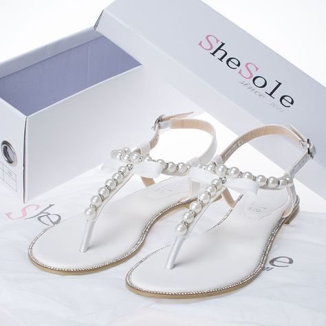dccf95b99 Shesole Womens Wedding Shoes Flat Gladiator Sandals Beach Flip Flops ...