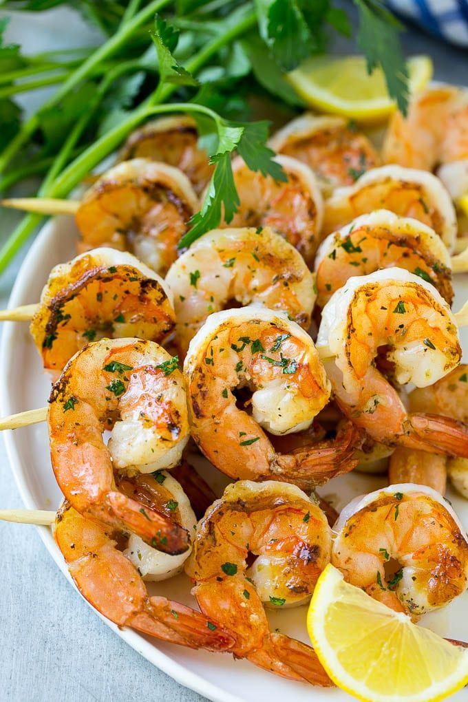 Gegrillte Garnelenspieße - Gesundes Essen #grilledshrimp