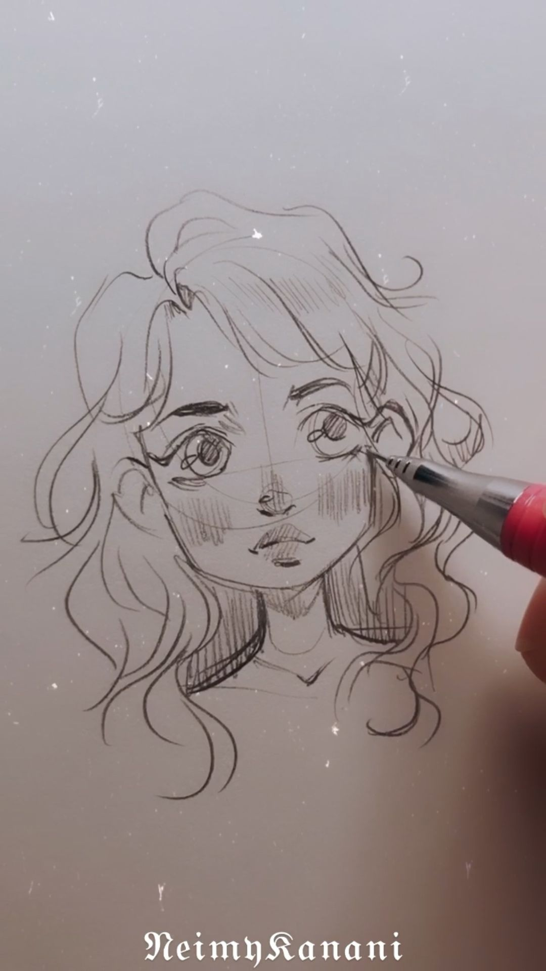 Sketching face process ✍🏻