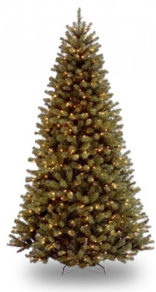 National Tree 9' North Valley Spruce Tree, Hinged, 700 Clear Lights #NationalTreeCompany