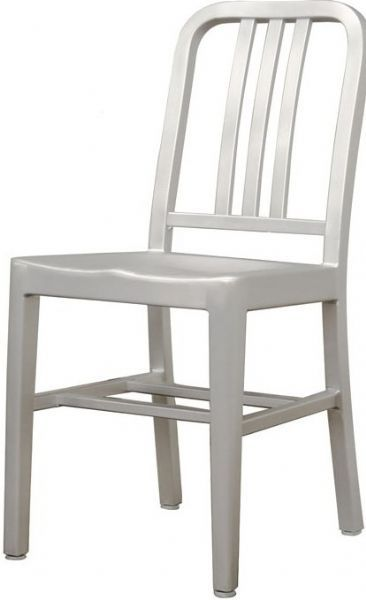 Wholesale Interiors Lc 901a Modern Cafe Chair In Brushed Aluminum