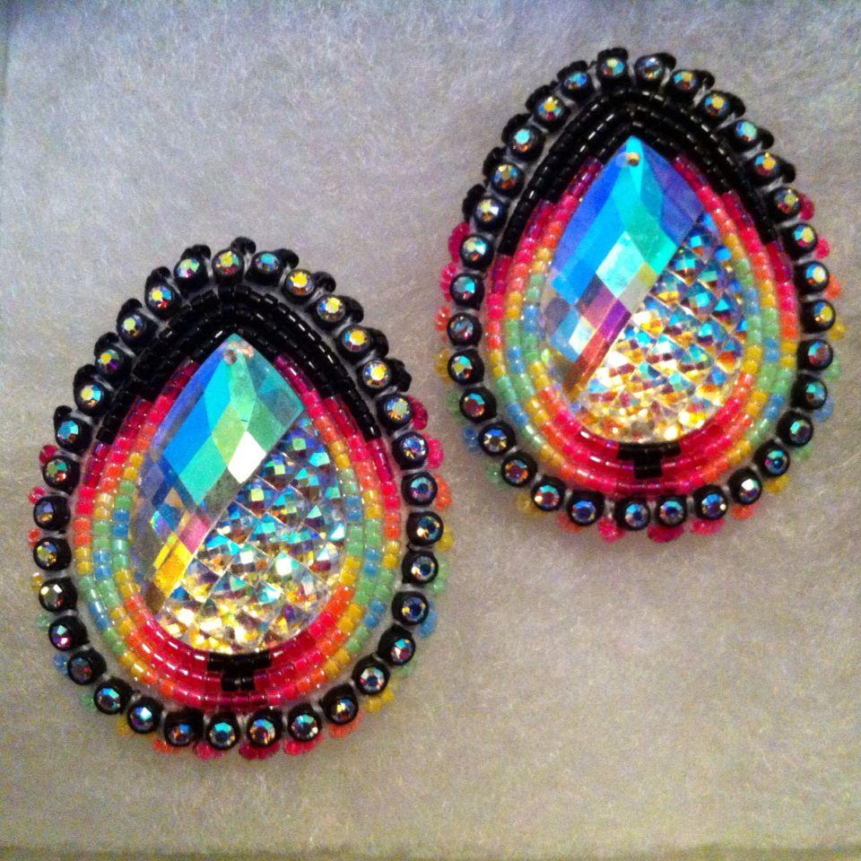 Native beaded earrings designs the for Native design