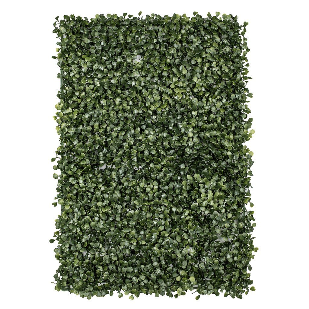 faux silk boxwood greenery wall panel mat backdrop 60cm x on interior using artificial boxwood panels with flowers id=47313