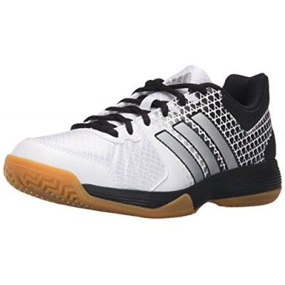super cute 5d1bc 777cf adidas Performance Womens Ligra 4 W Volleyball Shoe, WhiteMatte  SilverBlack, Small2 M US