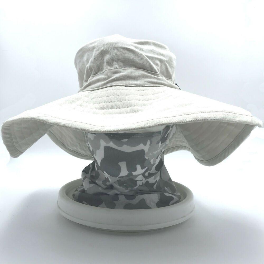 Seirus Bucket and Balaclava Hat Khaki Beige Camouflage One Size Wide Brim   Seirus  BucketandBalaclava d765cb12ea74