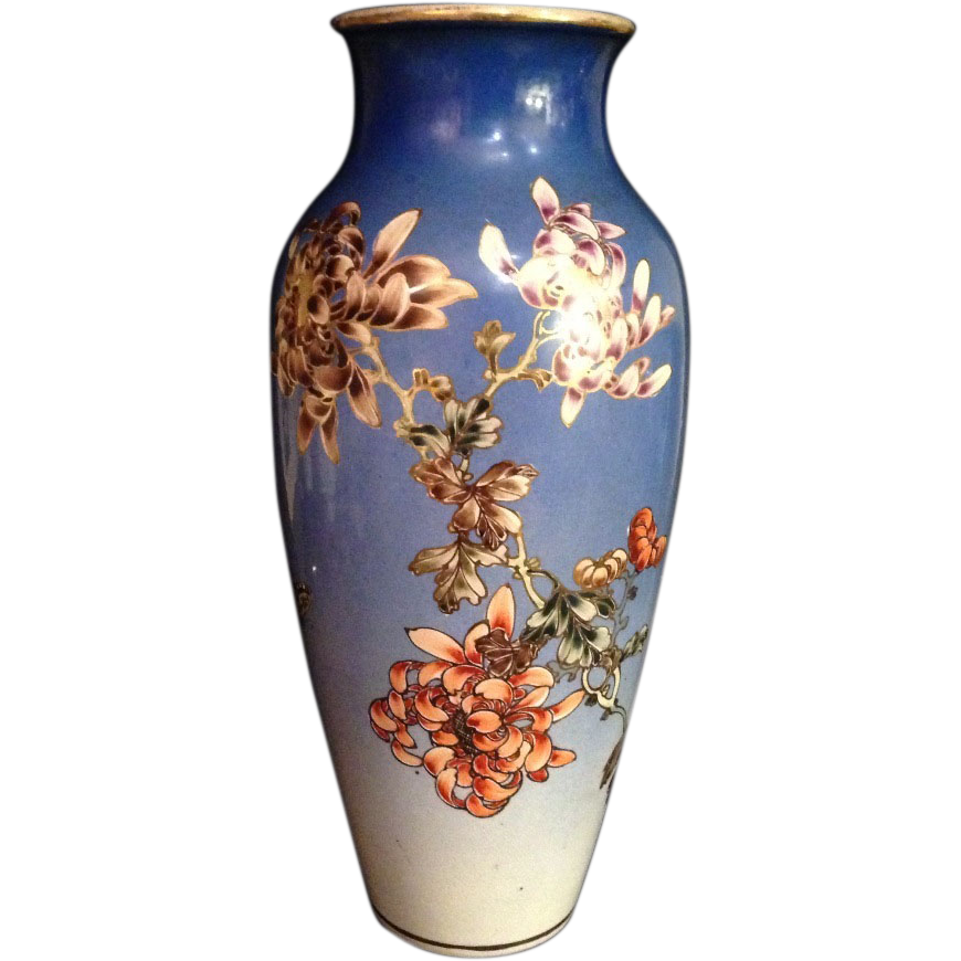 Tall Antique Kyo Yaki Kinkozan Vase Signed Many Faces Of