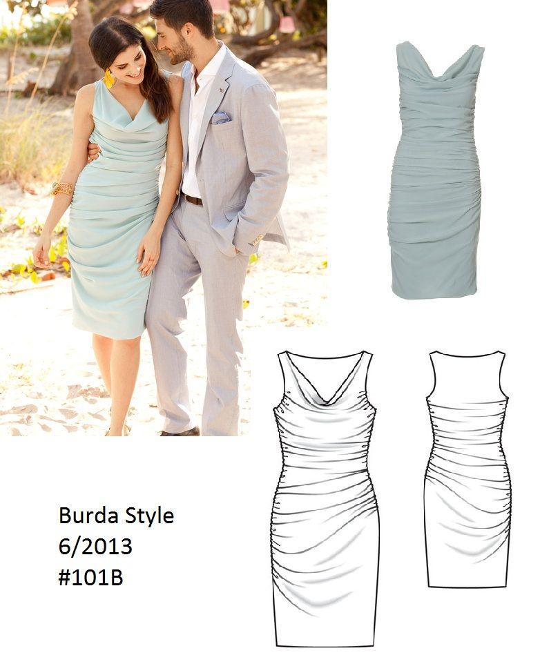 Burda Style Gathered tube dress 62013 #101B   Time to reap