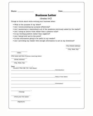 Business Letter Writing Worksheets The Best Sample Practice
