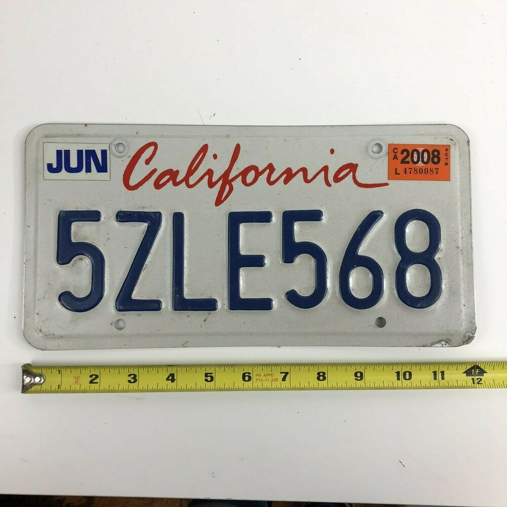 California Red White and Blue License Plate