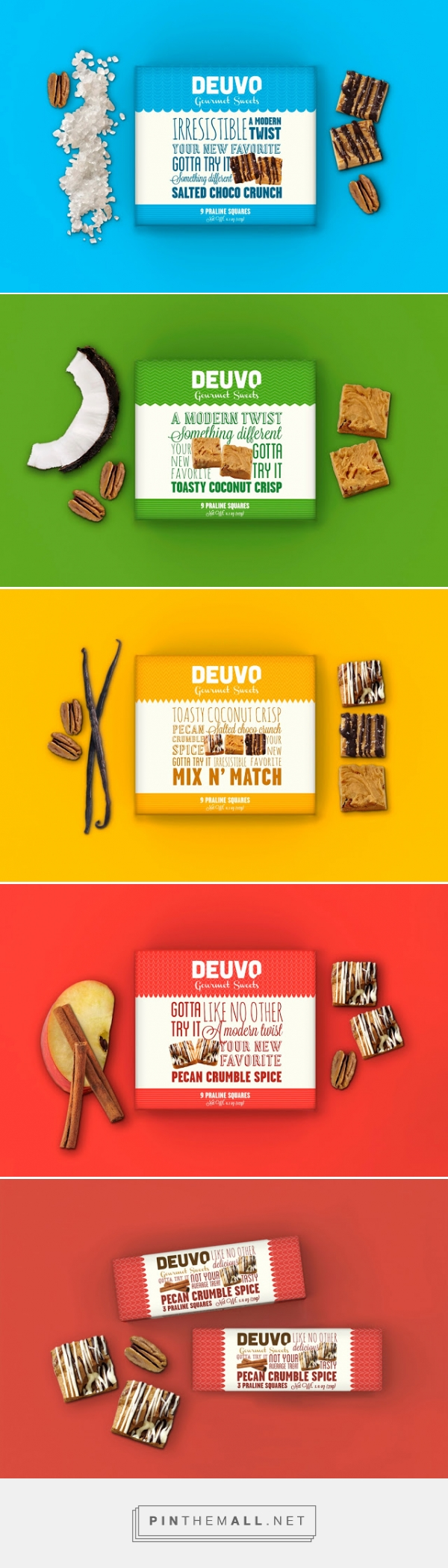 Deuvo gourmet sweets by Beatrice Menis and Mara Rodriguez. Pin curated by SFields99. #packaging