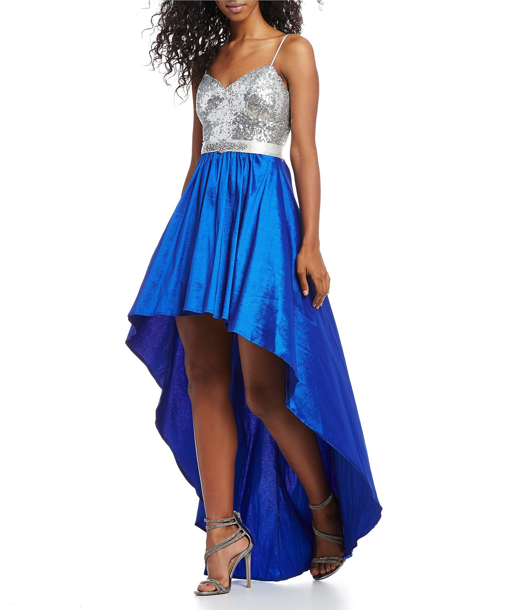B darlin sequin bodice long highlow dress high low bodice and
