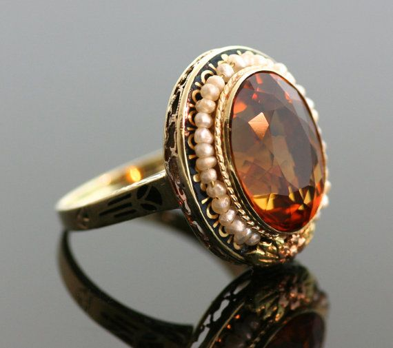 Antique Citrine Rings