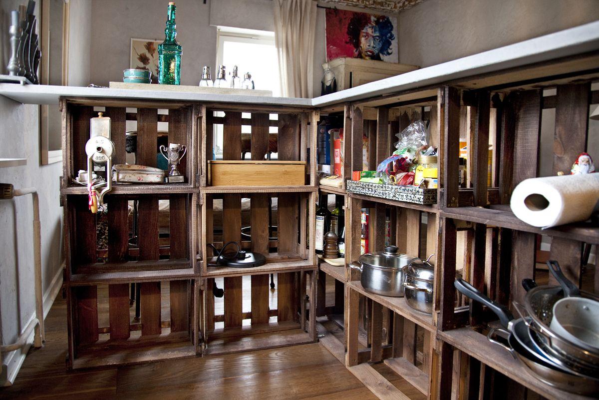 eine theke aus alten weinkisten anzug pinterest shabby. Black Bedroom Furniture Sets. Home Design Ideas