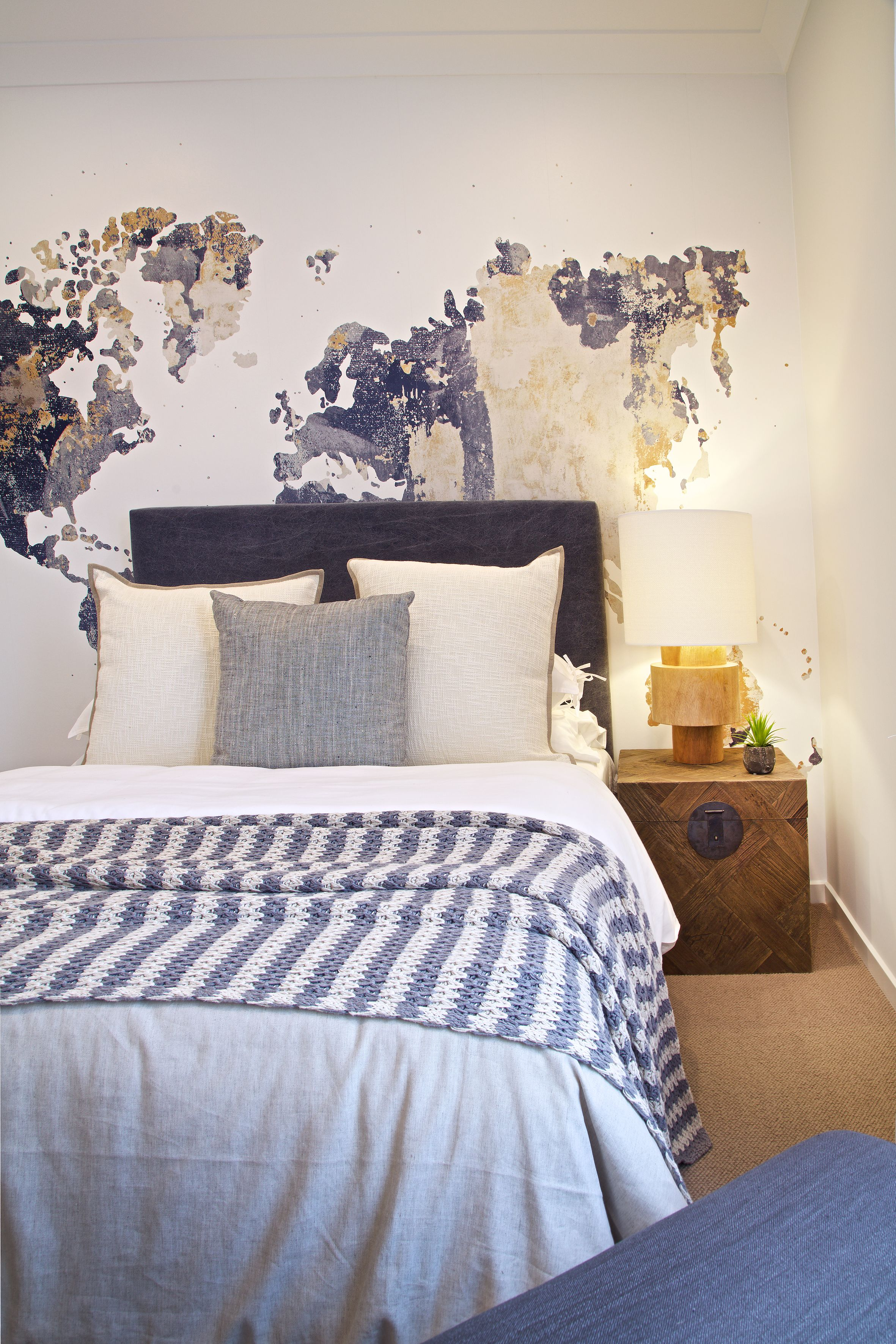 Clarendon Homes.  Brighton 30.  Nautical themed secondary bedroom with coastal blue hues.