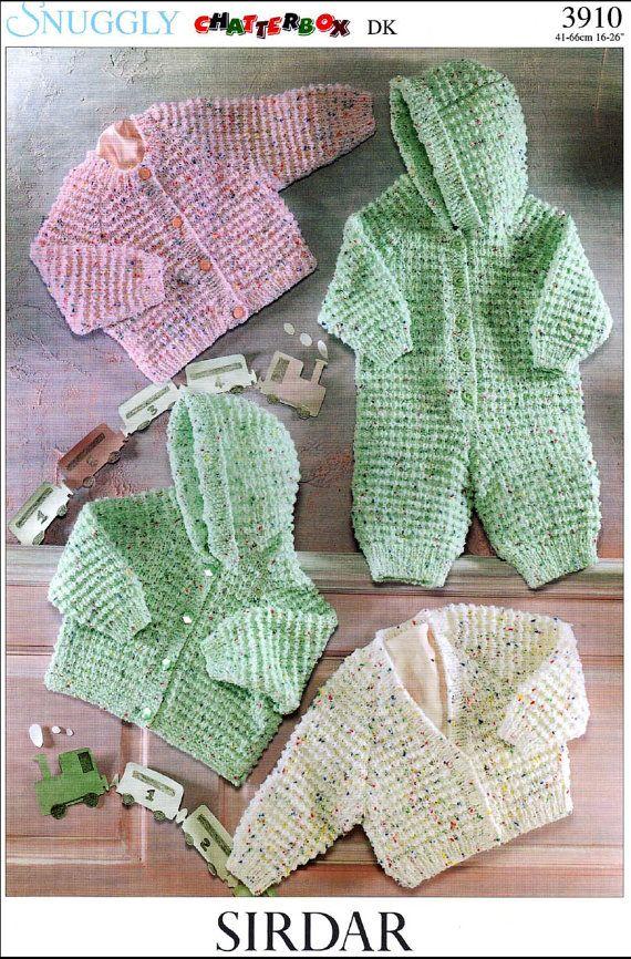 Vintage Pdf Baby Knitting Pattern Sirdar 3910 By Alwaysknitting2