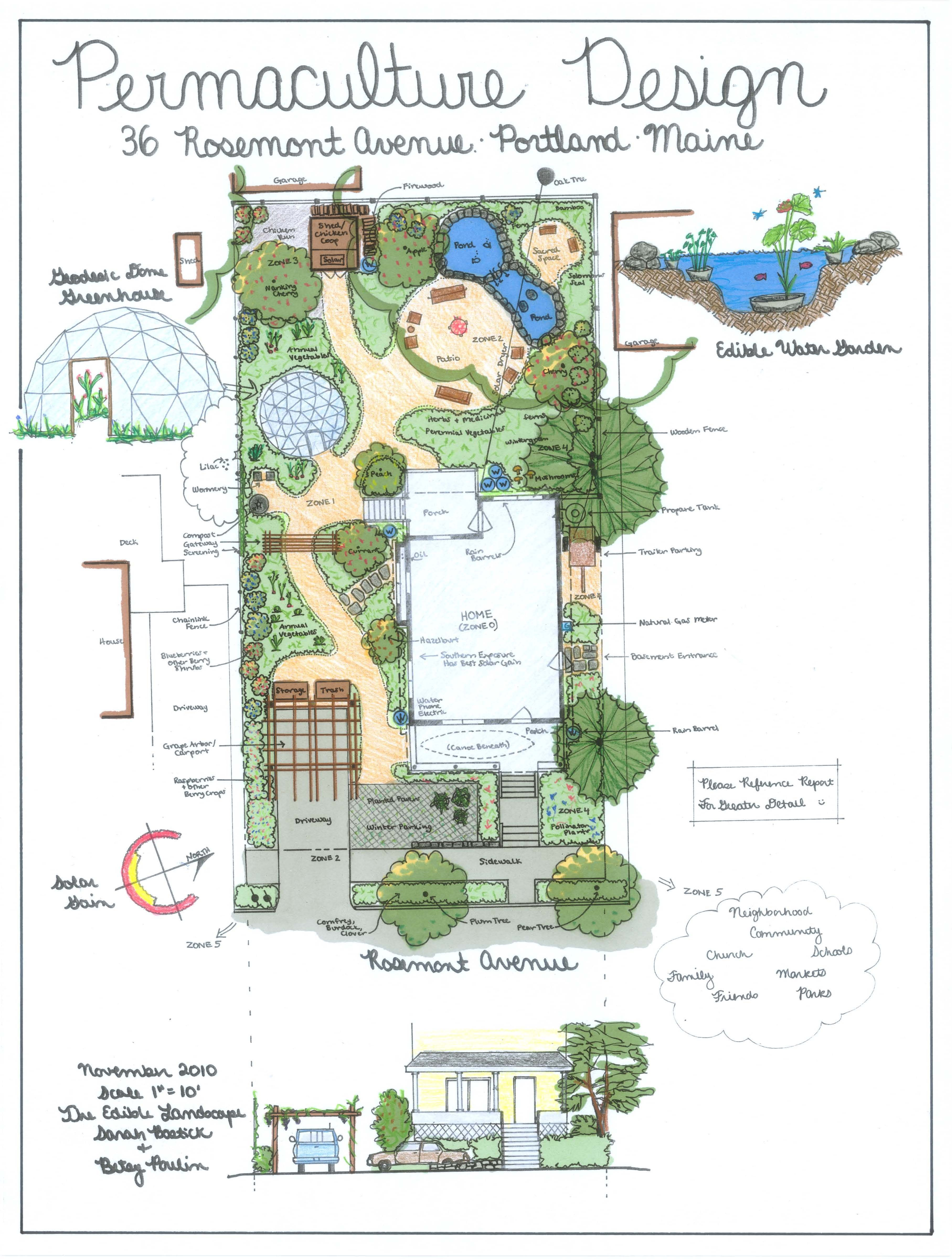 permaculture design examples - Google Search | Садівництво ... on Backyard Permaculture Design id=56775