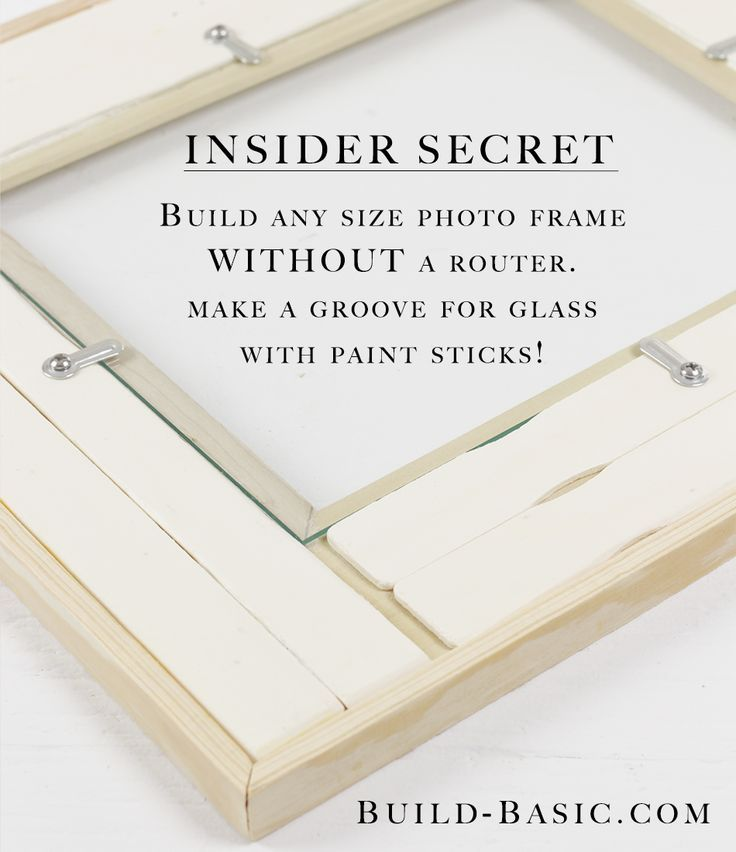 Turn any molding into a picture frame (complete with inset glass ...
