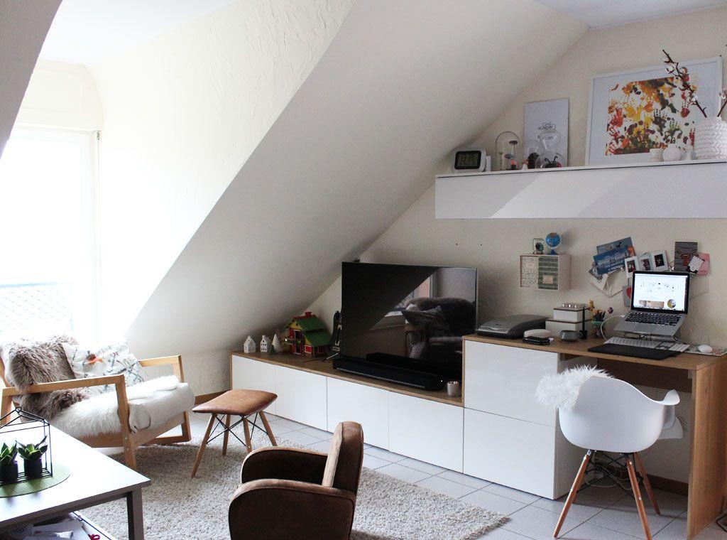 Meuble TV et bureau en enfilade avec caissons ikea besta