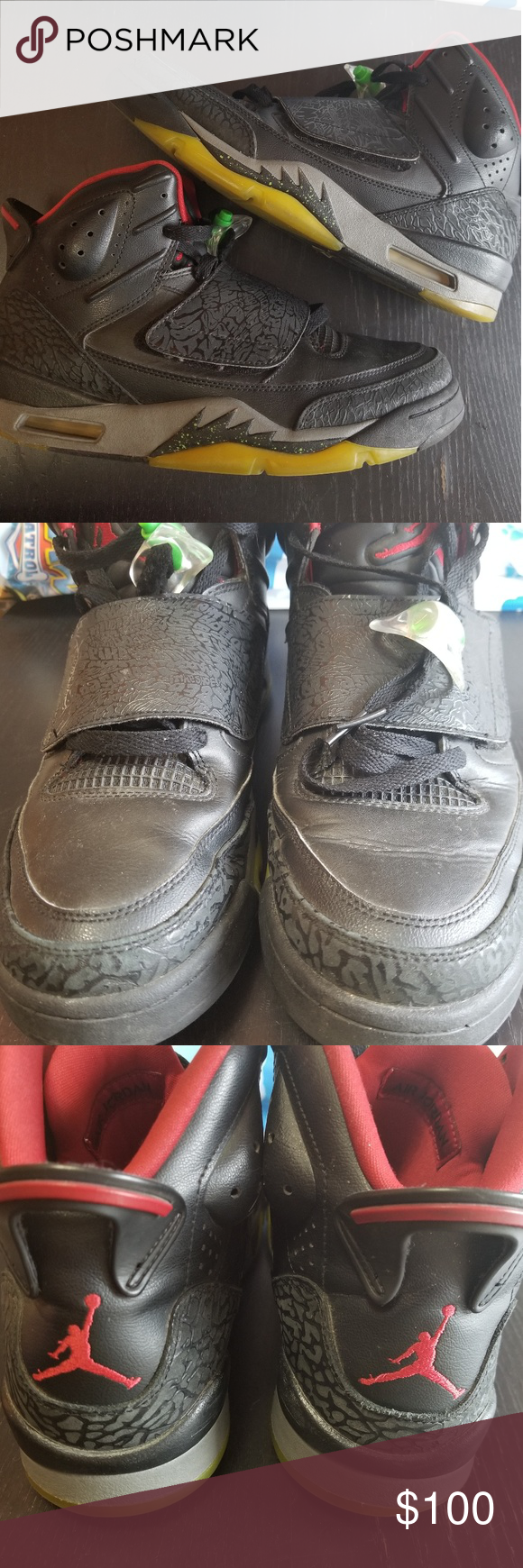 outlet store d8a59 1b758 Jordan Son of Mars Marvin the Martian Sneakers Pre-owned and in good  condition! Jordan Son of Mars Marvin the Martian Sneakers. Black, red,  green and gray.