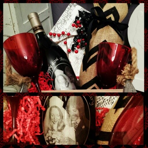 40th Wedding Anniversary Gift Basket I Made For My Parents Ruby Theme