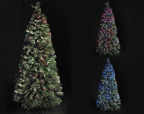 7ft Classic Deluxe Fibre Optic Tree Stylish tree with fibre optic colour changing lights operated by LED base with on/off switch. Transformer operated. £79.99