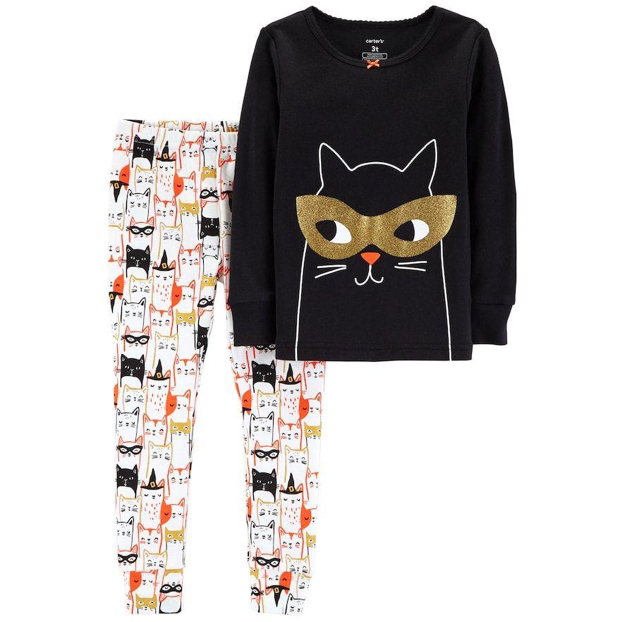 26b325969d22 Carter s Baby Girl Halloween Cat Top   Bottoms Pajama Set