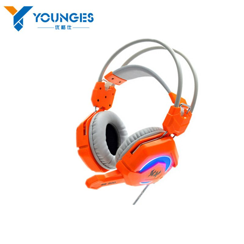 New listing YG-WEE5 desktop computer vibration noise reduction headset headset with microphone bass game light PC gamers
