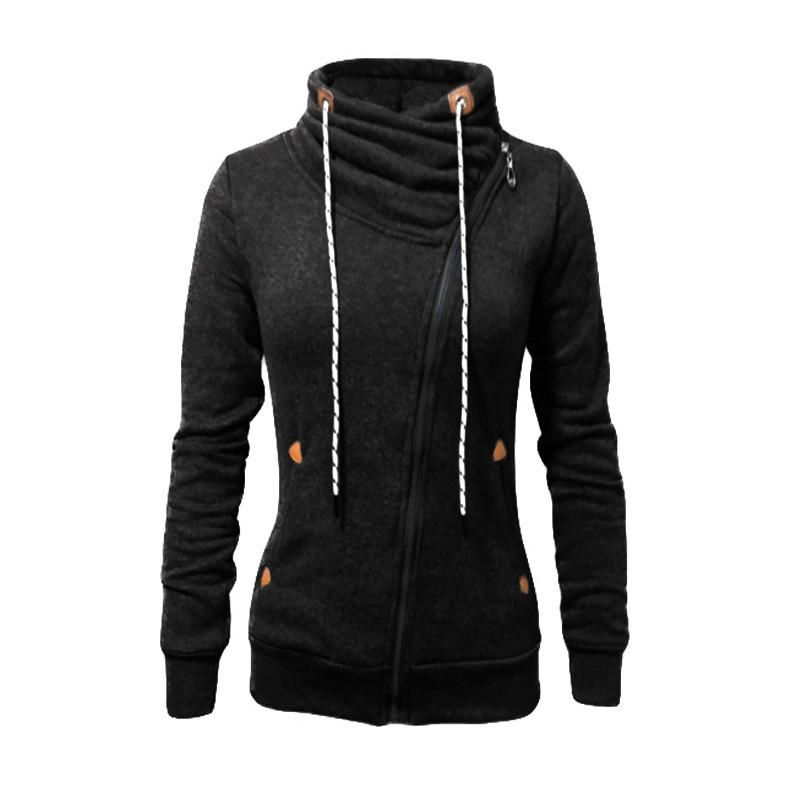 Ladies Sweatshirt Womens Girls Jacket Hoody Top Sweater Plain Heavy Fleece New
