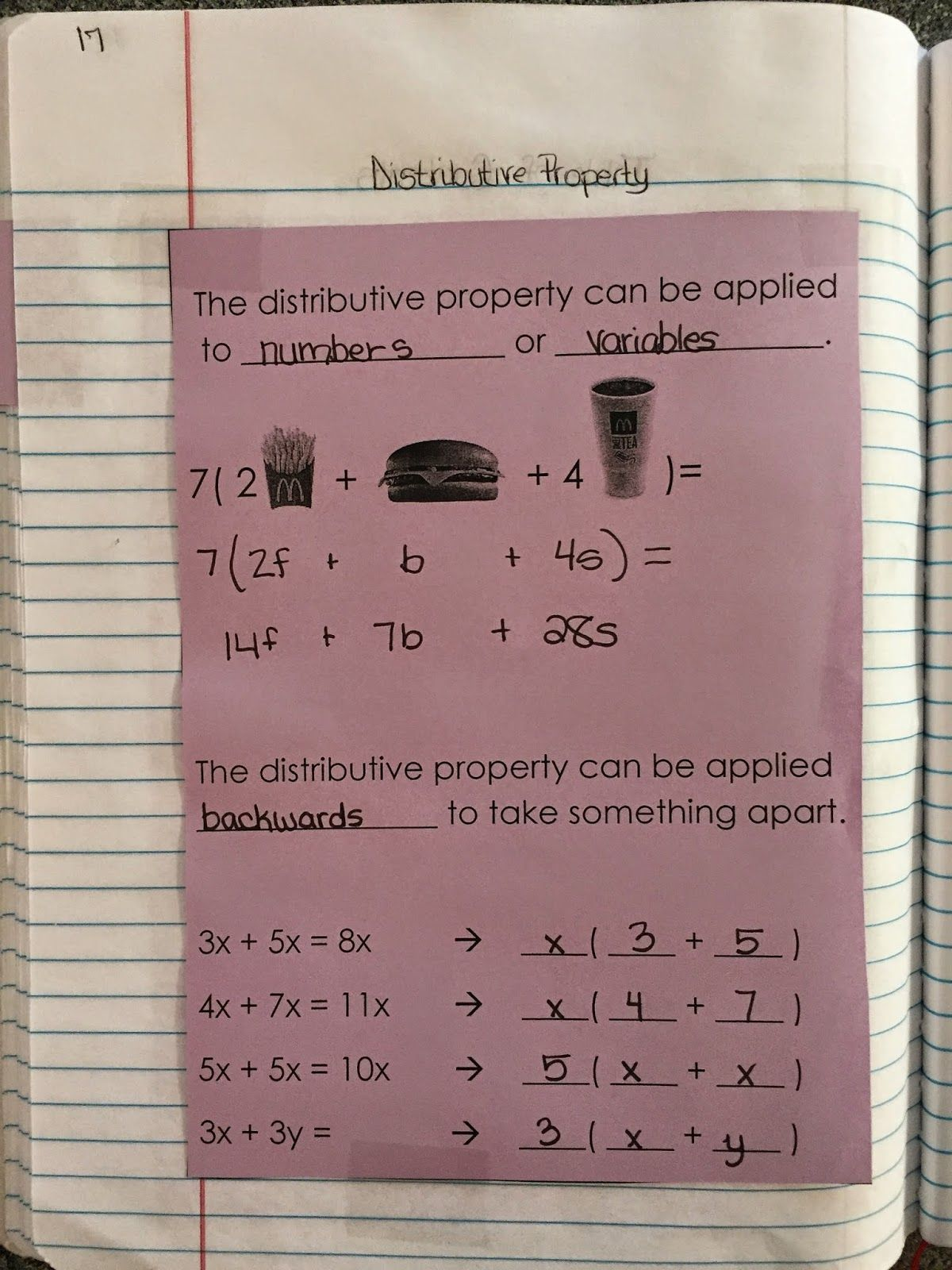 Misscalcul8 Algebra 1 Unit 2 Structure Of Expressions Interactive Notebook