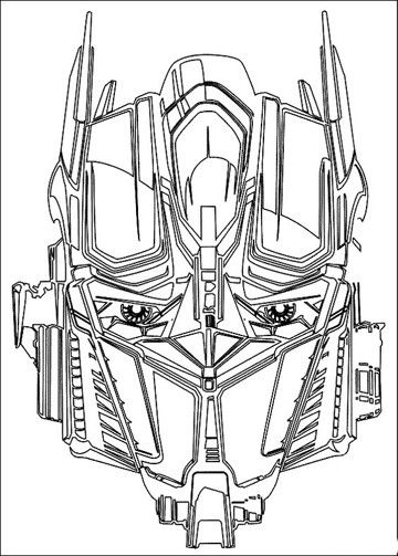 imagenes de transformers para colorear optimus | Personajes de comic ...