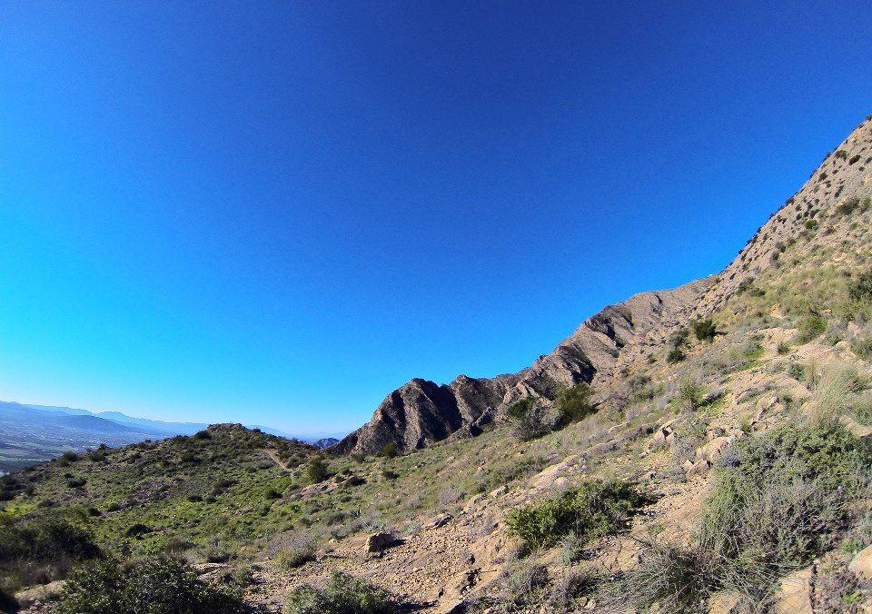 A beautiful day to walk/ climb this route Sierra de