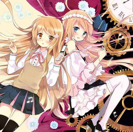 Anime Twin Sister Desktop Nexus Wallpapers Anime Sisters Anime Anime Art Girl