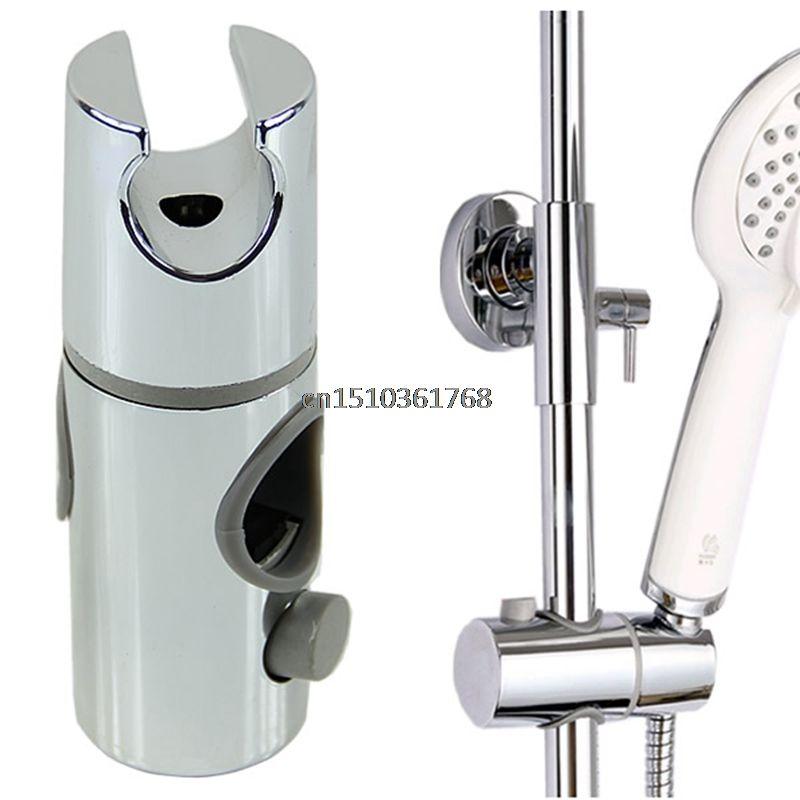 Chrome Plated Head Holder Hand Held Shower Bracket Holder For Bathroom Slide Bar Y122 Y05 C05 Shower Bracket Shower Rail Hand Held Shower